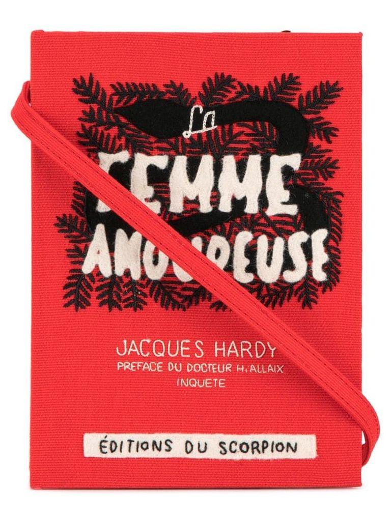 Olympia Le-Tan La Femme Amoureuse book clutch - Red