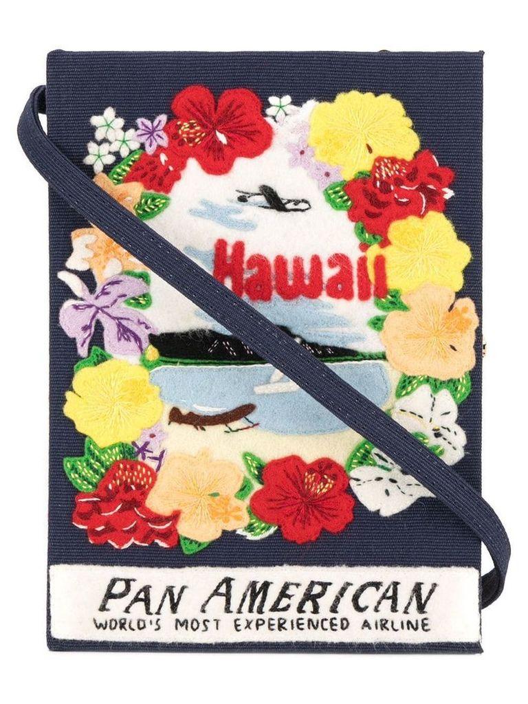 Olympia Le-Tan Hawaii book clutch - Blue
