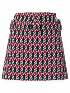 Prada belted waist skirt - Blue