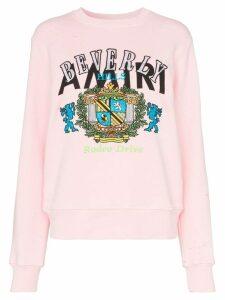 AMIRI beverly hills cotton sweatshirt - PINK