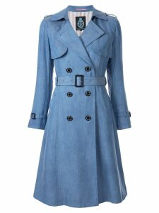 Guild Prime double-breasted trench coat - Blue