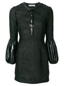 JW Anderson puff sleeve mini dress - Black