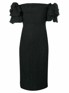 Alexa Chung puff sleeve dress - Black