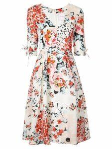 Carolina Herrera floral print flared dress - White