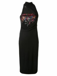 Cushnie embellished fitted dress - Black