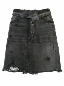 Amiri distressed denim skirt - Black
