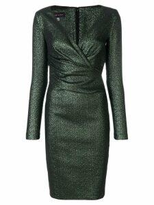 Talbot Runhof long-sleeved pencil dress - Green