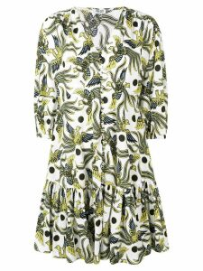 Kenzo bird print dress - White