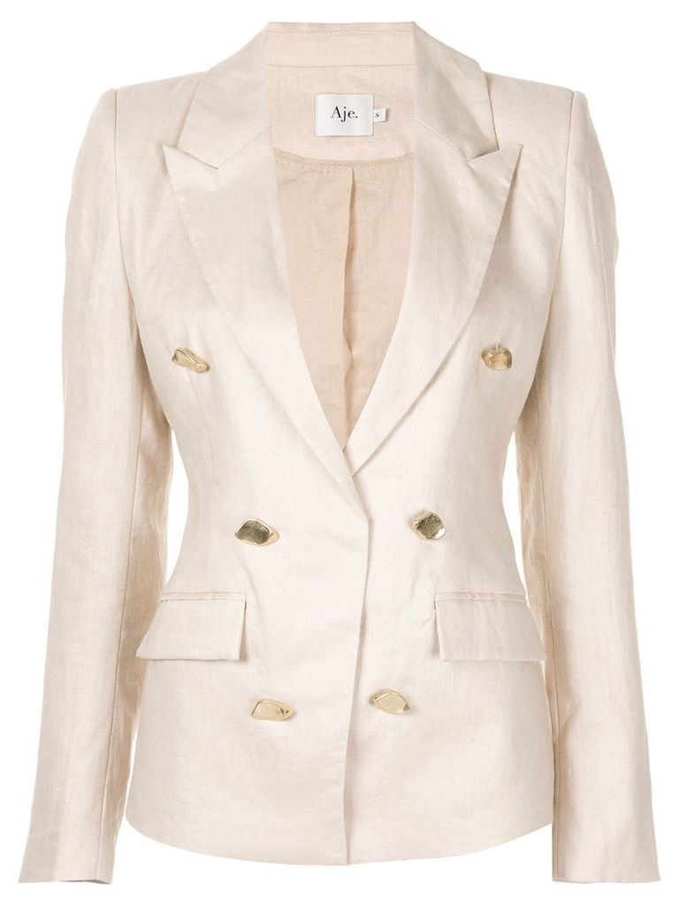 Aje Behati double breasted blazer - Brown