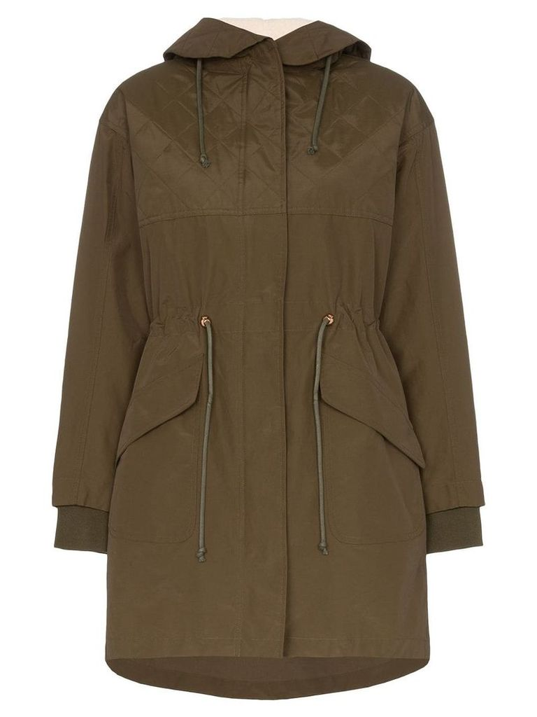 See By Chloé hooded zip up parka - Green