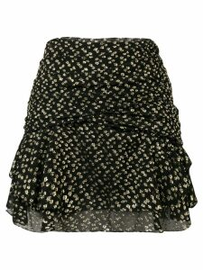 Saint Laurent printed mini draped skirt - Black