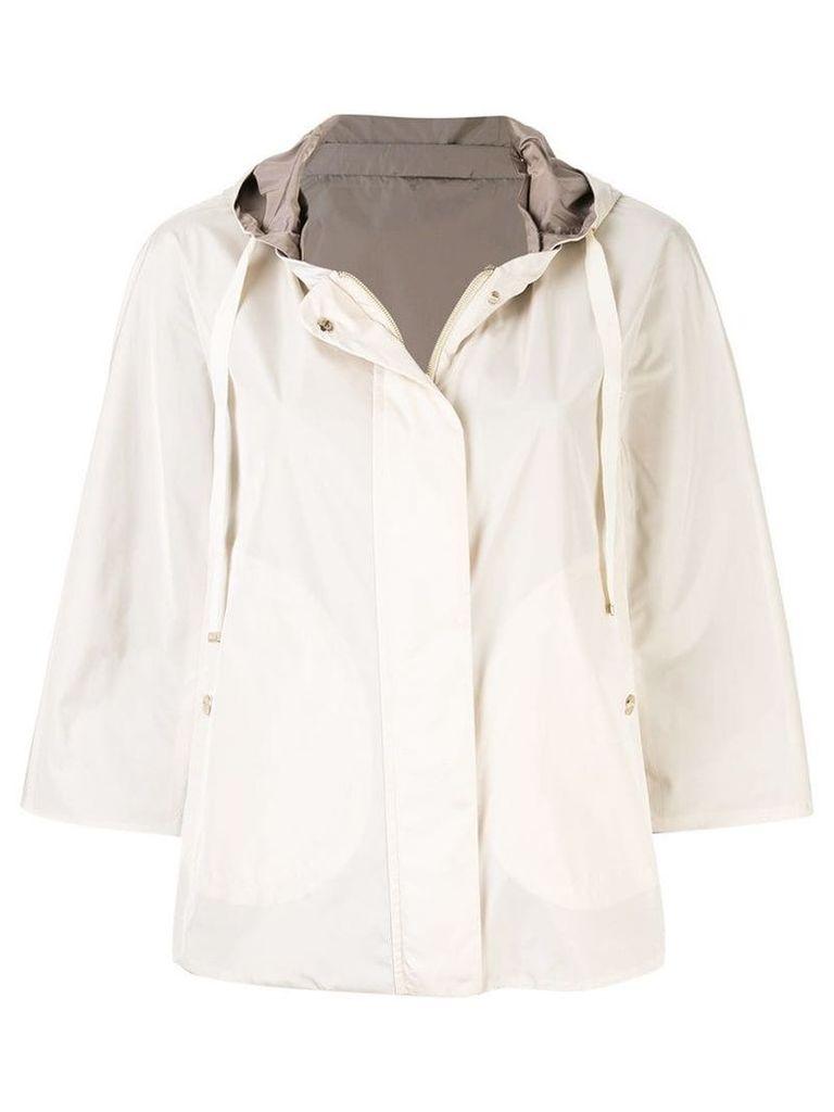 Herno short hooded coat - Brown
