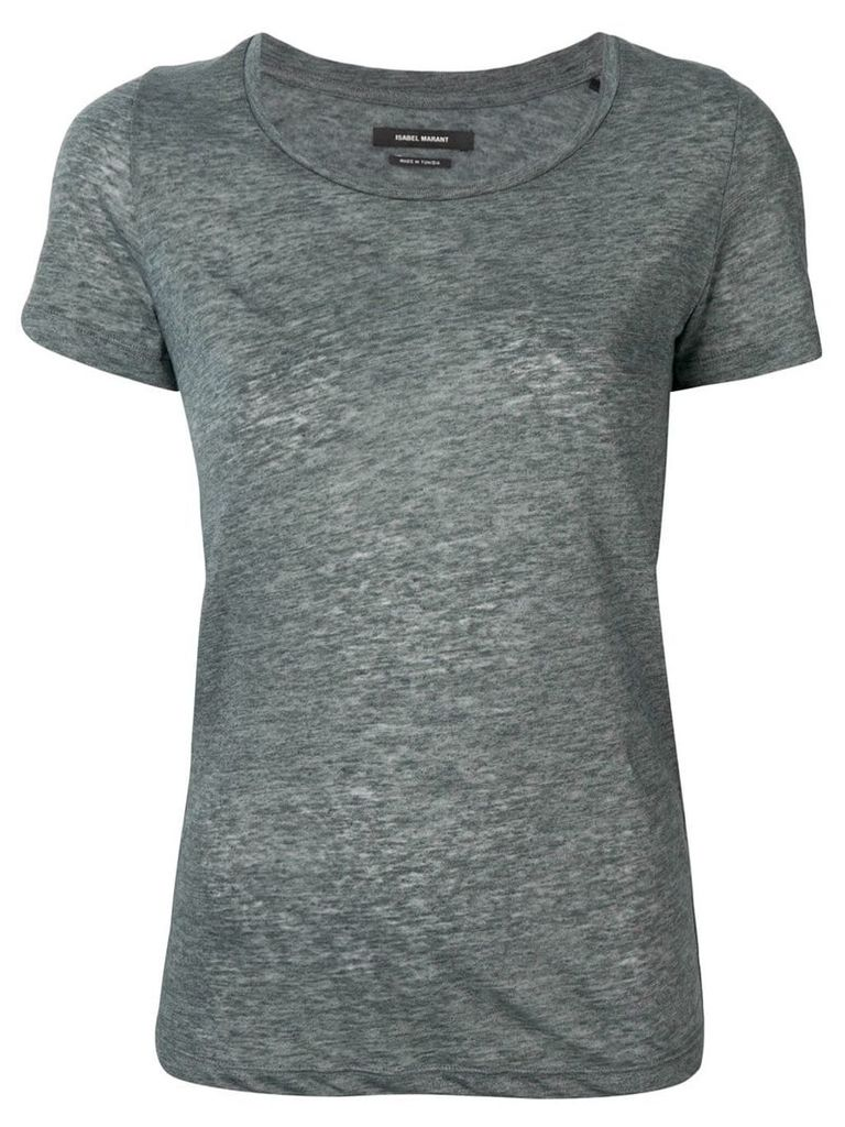 Isabel Marant ribbed T-shirt - Grey