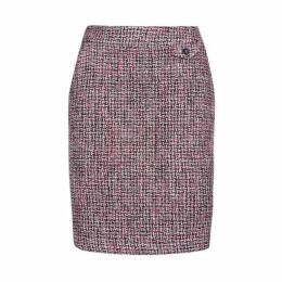 Black and Pink Tweedy ALine Skirt