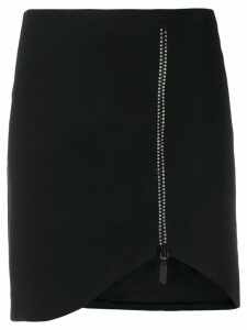 David Koma crystal-embellished skirt - Black