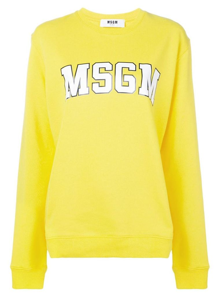 MSGM logo-print sweatshirt - Yellow