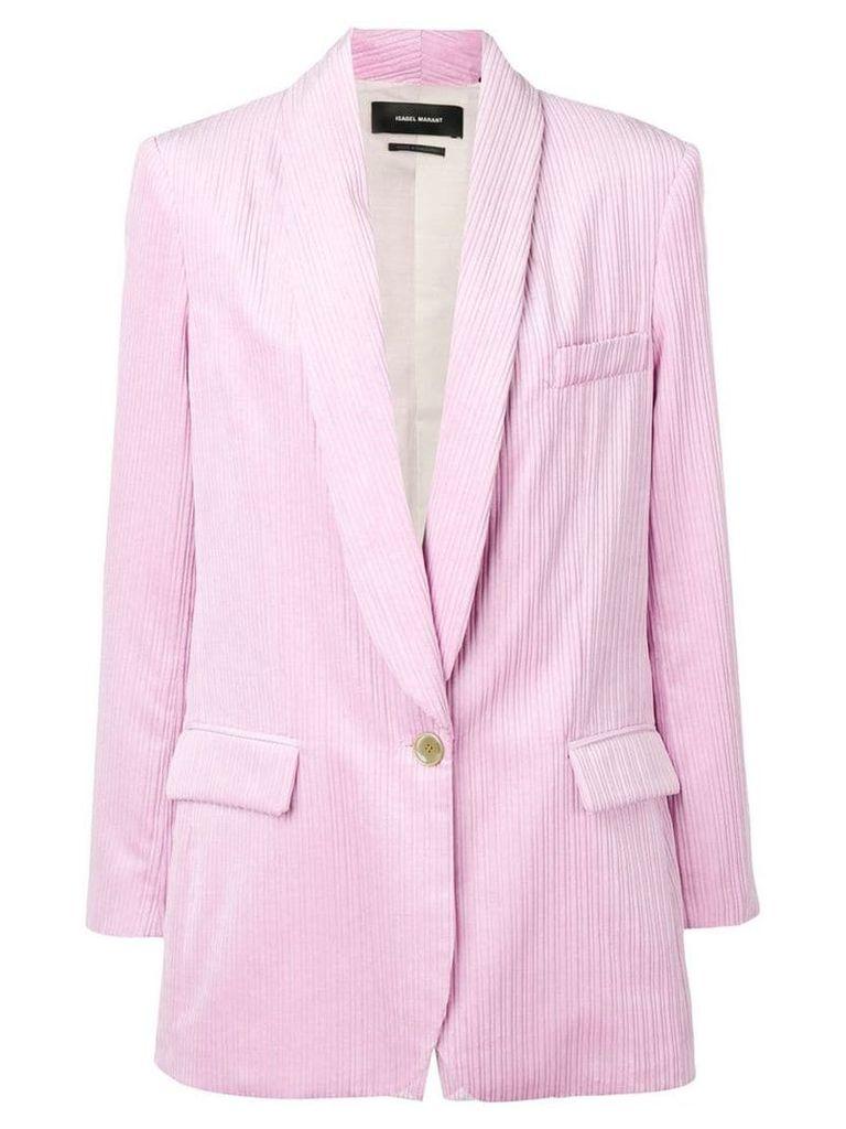 Isabel Marant large corduroy blazer - Pink