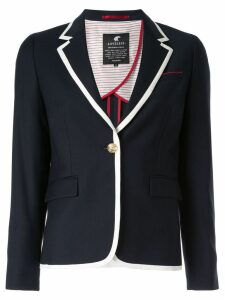 Loveless contrast trim blazer - Blue
