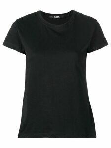 Karl Lagerfeld logo collar T-shirt - Black
