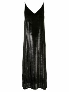 Adam Lippes striped cami dress - Black