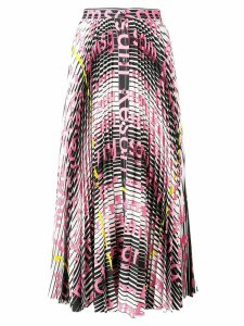 MSGM mix print pleated skirt - Pink