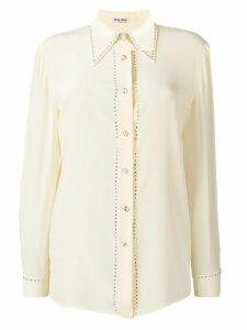 Miu Miu glitter detailed shirt - Yellow