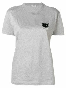 Miu Miu cat embellished T-shirt - Grey