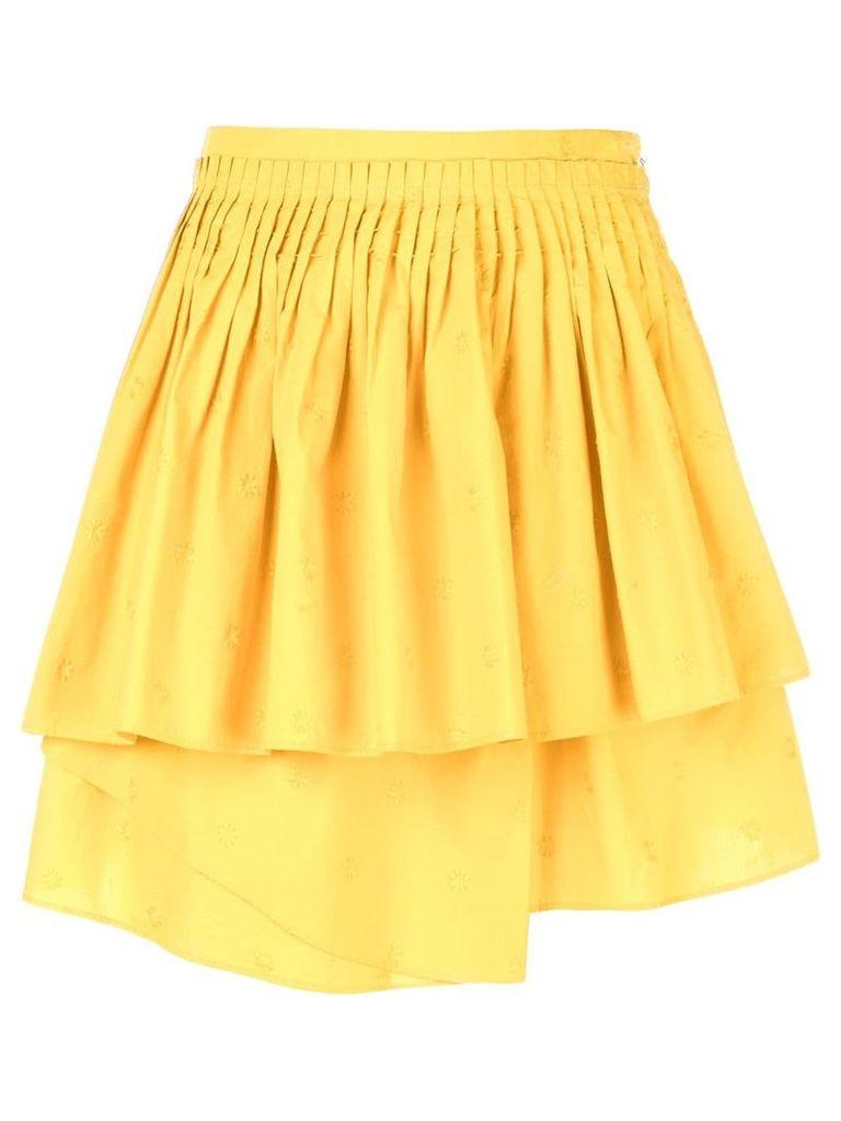 Ulla Johnson tiered gathered skirt - Yellow
