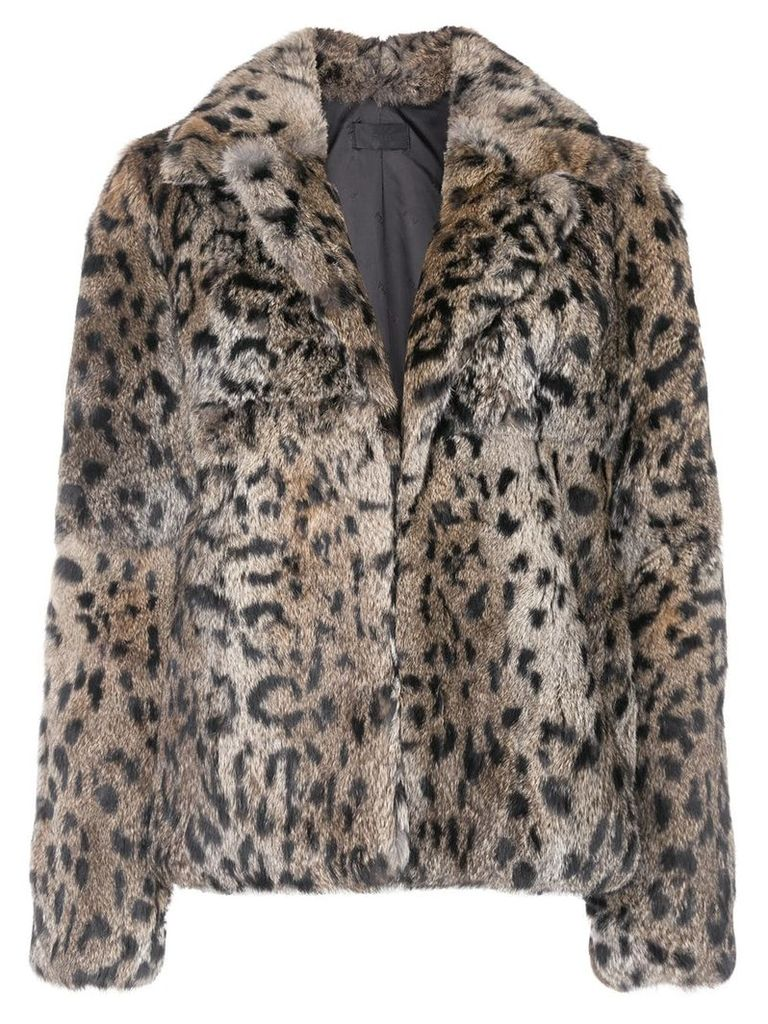 Rta Saffron cropped coat - Brown