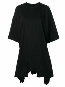 Mm6 Maison Margiela oversized sweatshirt dress - Black