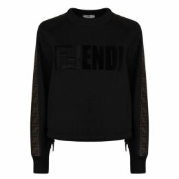 Fendi Logo Cropped Sweatshirt