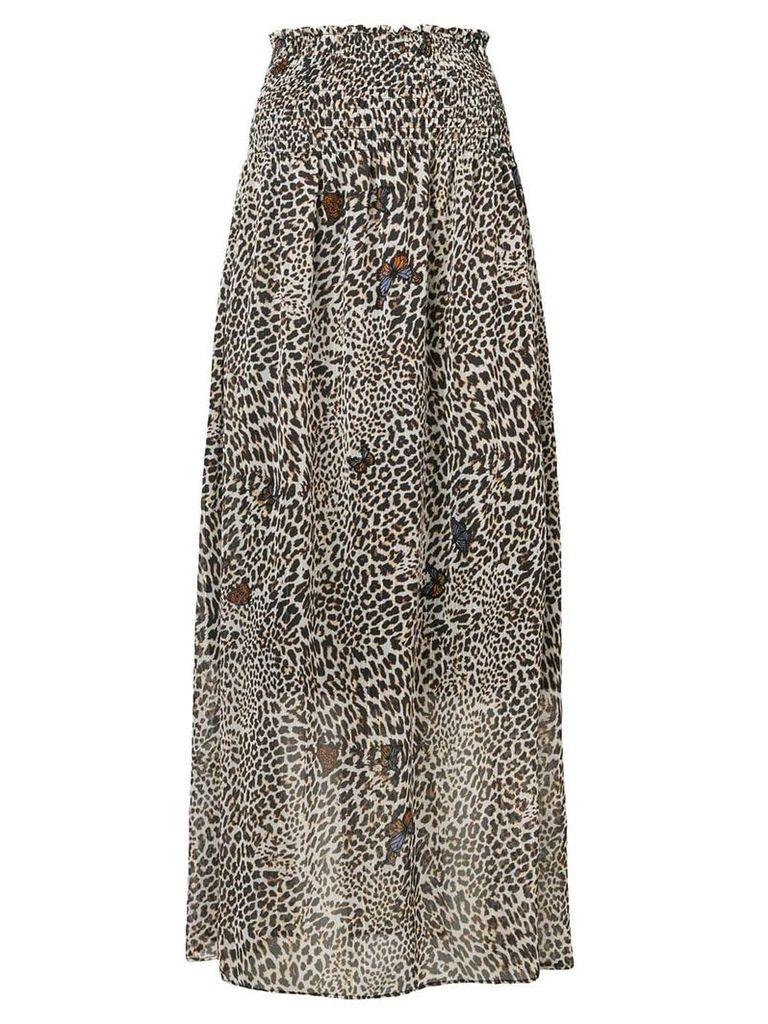 Liu Jo leopard print maxi skirt - Neutrals