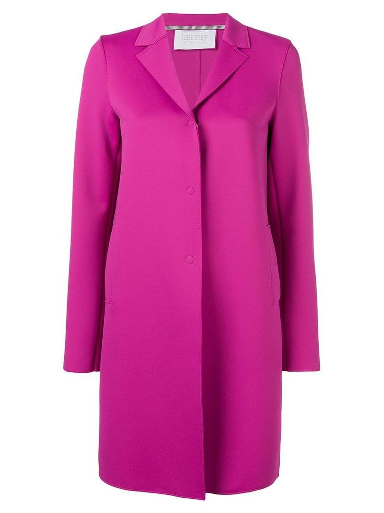 Harris Wharf London fitted single-breasted coat - Pink
