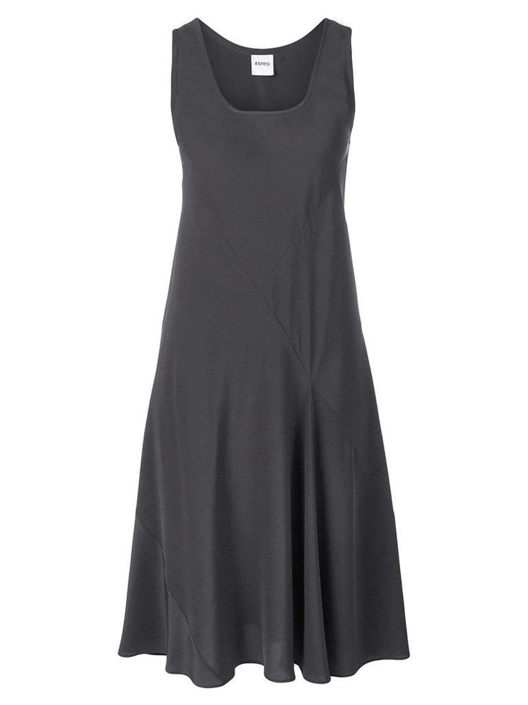 Aspesi scoop neck shift dress - Grey