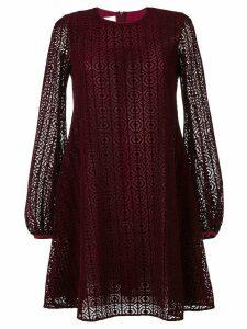 Giamba laser cut layer dress - Purple