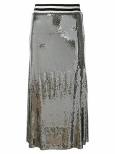 Nicole Miller sequin a-line skirt - Silver