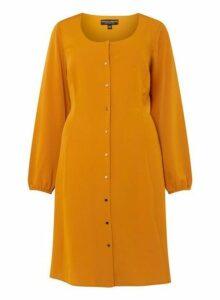 Womens **Dp Curve Yellow Tea Dress- Orange, Orange
