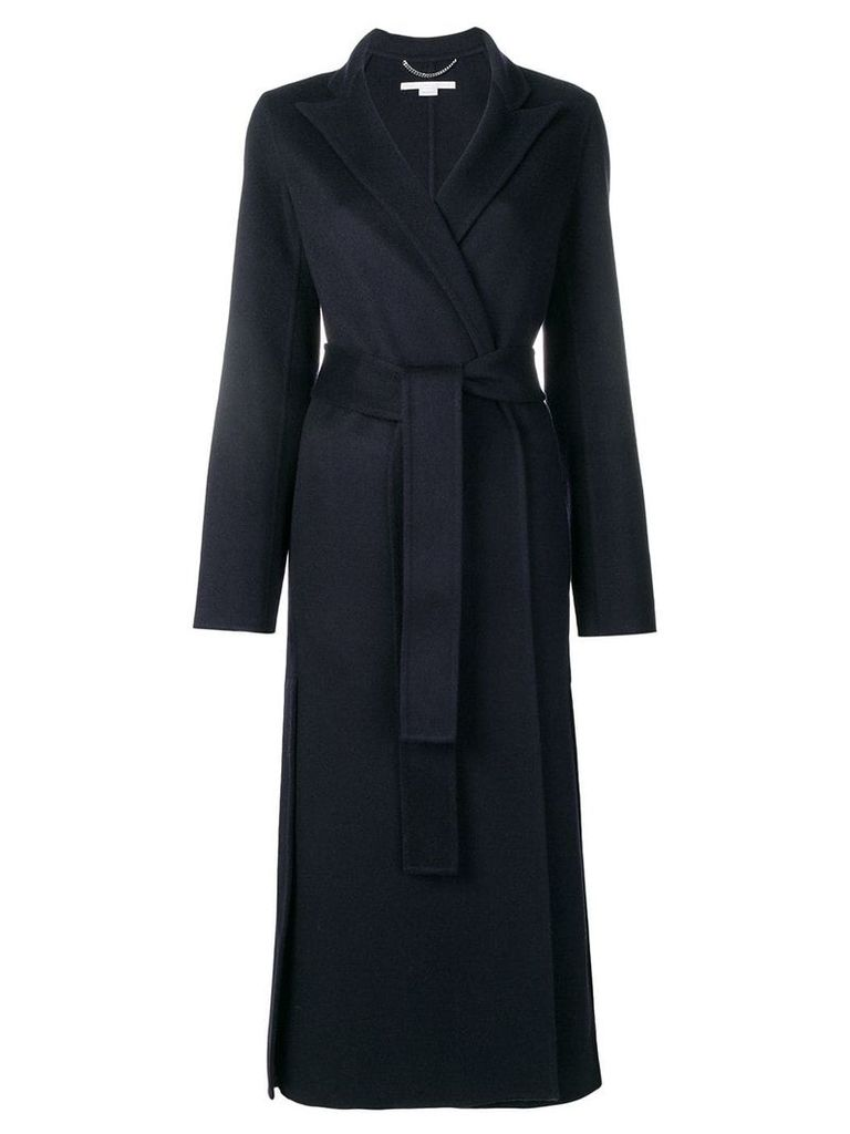 Stella McCartney long belted coat - Blue