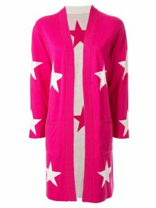 Guild Prime star intarsia knit cradi-coat - Pink