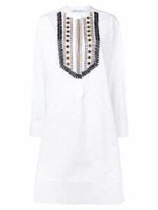 Alberta Ferretti beaded shirt dress - White