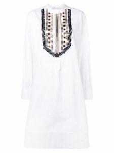 Alberta Ferretti beaded shirt dress - White