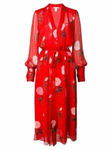 Oscar de la Renta floral print maxi dress - Red