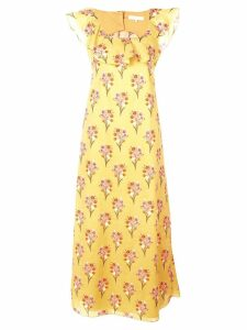 Borgo De Nor long floral dress - Yellow