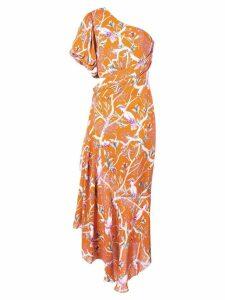 Johanna Ortiz one shoulder printed dress - Orange