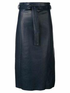 Drome high-waisted midi skirt - Blue