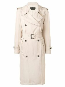 Tom Ford double breasted trench coat - Neutrals