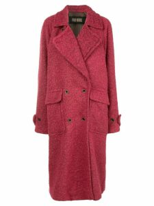 Uma Wang double breasted coat - Red