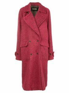 Uma Wang double breasted coat - Red