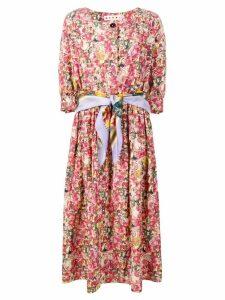 Marni floral-print dress - Pink