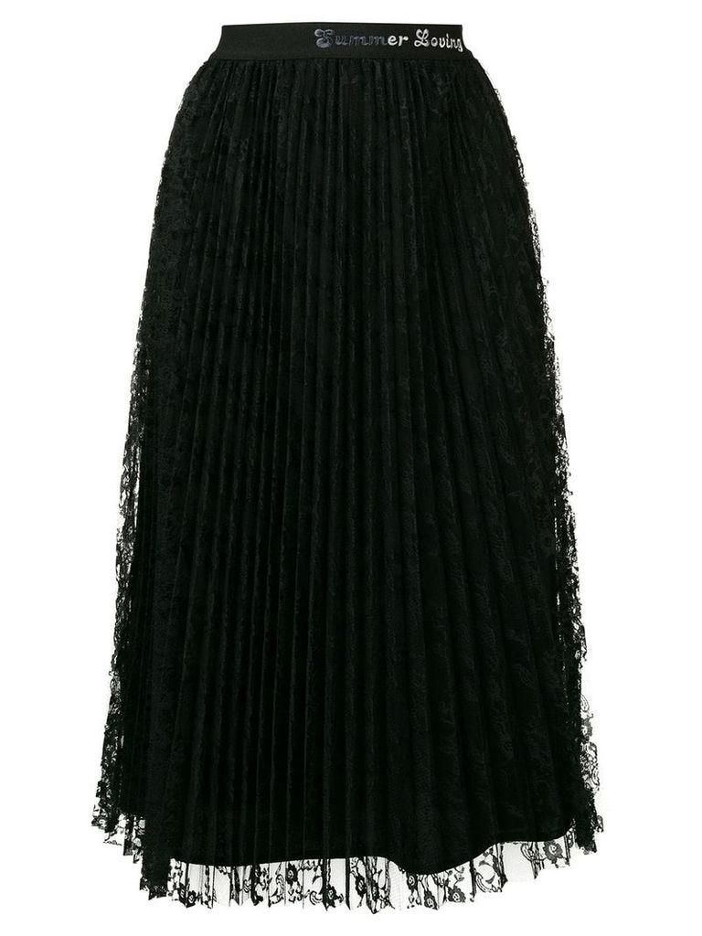 Pinko lace pleated midi skirt - Black